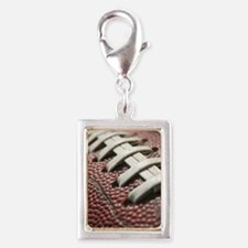 Football  2 Silver Portrait Charm
