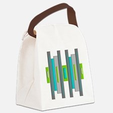 Mid Century Modern Canvas Lunch Bag