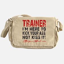 TRAINER - KISS IT - WHITE Messenger Bag