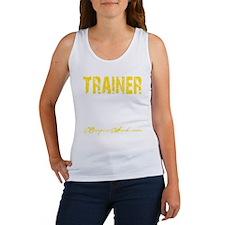 TRAINER - KISS IT - YELLOW Women's Tank Top