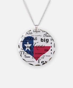 Texas Love-Wordcloud+Flag He Necklace