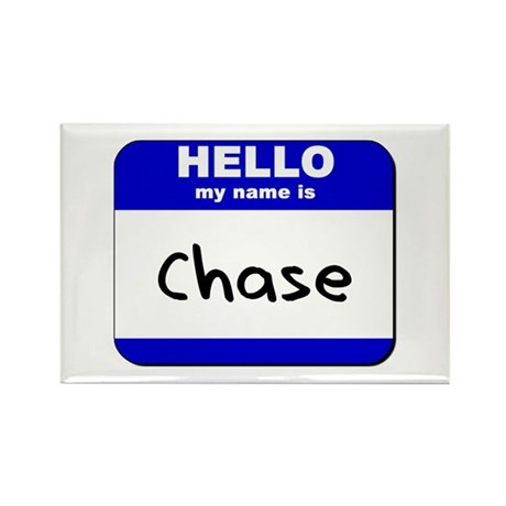 hello my name is chase Rectangle Magnet