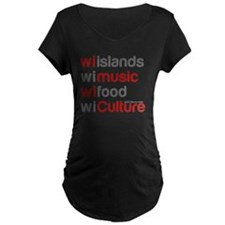 wi islands wi music wi food T-Shirt