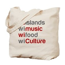 wi islands wi music wi food Tote Bag