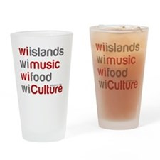 wi islands wi music wi food Drinking Glass