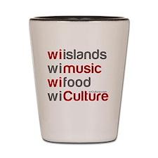 wi islands wi music wi food Shot Glass