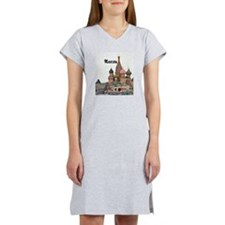 Moscow_2.5x3.5_Ornament (Oval)_ Women's Nightshirt