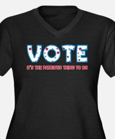 Patriotic Vote Plus V-Neck T-Shirt (Dark)