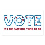Patriotic Vote Rectangle Sticker