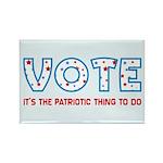 Patriotic Vote Rectangle Magnets (100 pk)