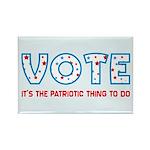 Patriotic Vote Rectangle Magnet