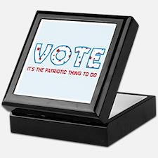 Patriotic Vote Keepsake Box