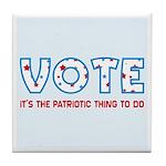 Patriotic Vote Tile Drink Coaster