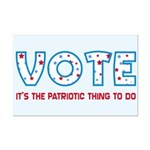 Patriotic Vote Poster Print (Mini)