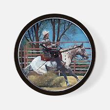 Appaloosa Reining Horse Wall Clock