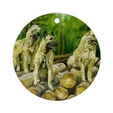 Belgian Laekenois Dog Round Ornament