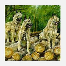 Belgian Laekenois Dog Tile Coaster