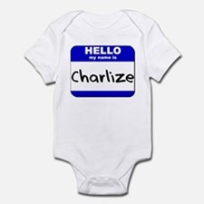 hello my name is charlize  Onesie