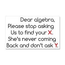 Dear Algebra Car Magnet 20 x 12