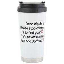 Dear Algebra Stainless Steel Travel Mug