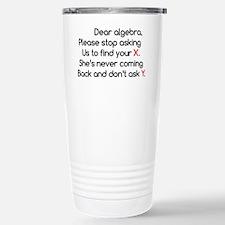 Dear Algebra Travel Mug