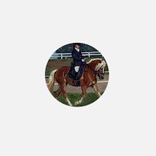 Haflinger Dressage Horse Mini Button