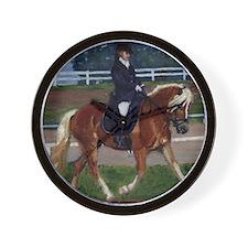 Haflinger Dressage Horse Wall Clock