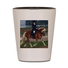 Haflinger Dressage Horse Shot Glass
