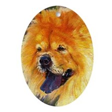Chow Chow Dog Oval Ornament