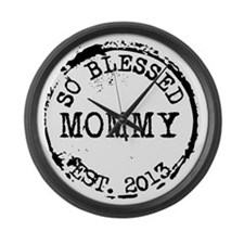 New Mommy Established 2013 Large Wall Clock