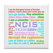 NCIS Abby Quotes Tile Coaster