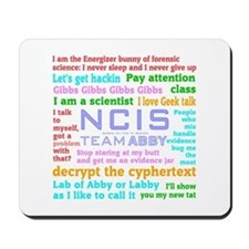 NCIS Abby Quotes Mousepad