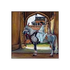 "Marwari Horse Square Sticker 3"" x 3"""