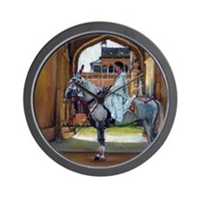 Marwari Horse Wall Clock