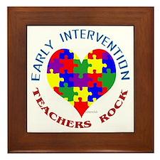 Early Intervention Teachers R Framed Tile
