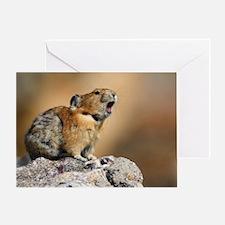 Pika Howling Greeting Card