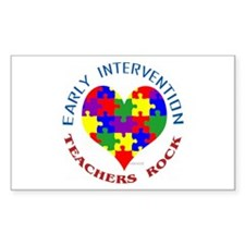 Early Intervention Teachers R Sticker (Rectangular