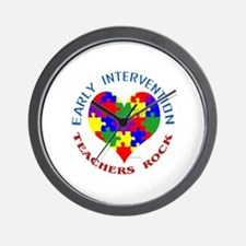 Early Intervention Teachers R Wall Clock