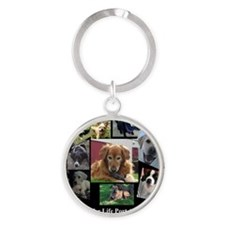 Bark for Life Round Keychain