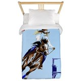 Barrel racing Twin Duvet Covers