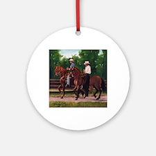 Paso Fino Horses Round Ornament