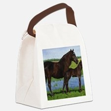 Percheron Mare And Foal Draft Hor Canvas Lunch Bag