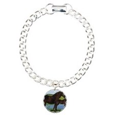 Percheron Mare And Foal  Bracelet