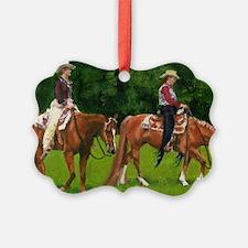 Western Pleasure Quarter Horse Ornament
