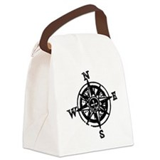 Large compass Canvas Lunch Bag