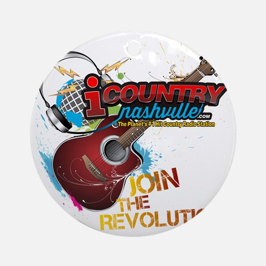 Join the Revolution Round Ornament