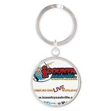 iCountryNashville.com Listen Live! Round Keychain