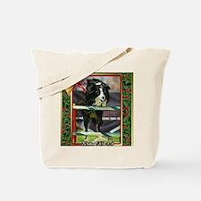 Border Collie Agility Christmas Tote Bag