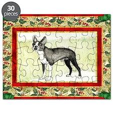 Boston Terrier Christmas Puzzle