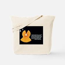 Yellow Accordion Angel Tote Bag